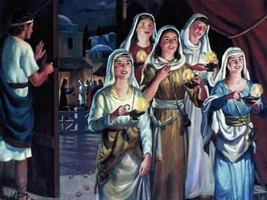 Resultado de imagen de virgenes con sus lamparas en tiempo de jesús