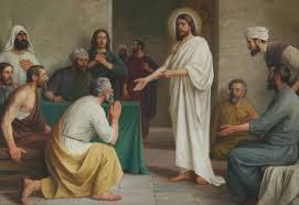 Resultado de imagen de jesus resucitado en el cenaculo